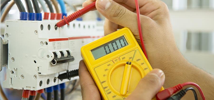 medição de sistemas elétricos industriais