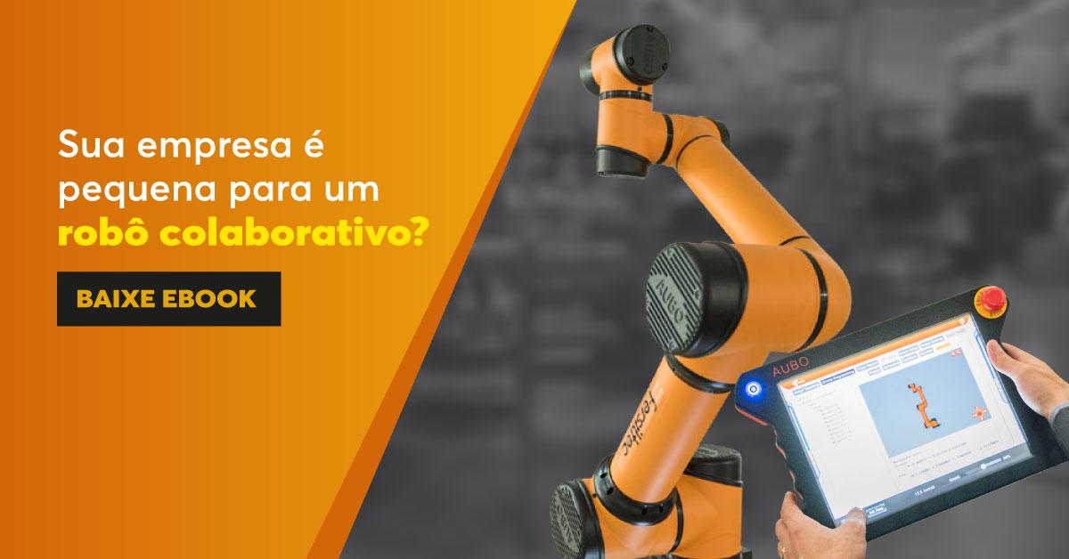 Oferta do Ebook sobre robótica colaborativa.